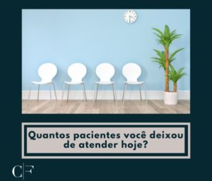 cadeiras vazios simulando um consultório sem pacientes